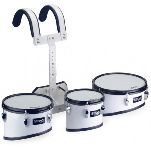 MATS-10 - Trio de toms de parade avec baudrier léger en aluminium