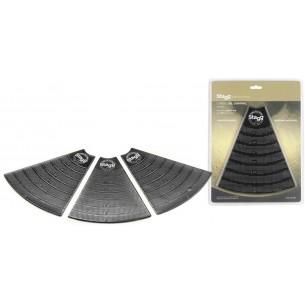 """CGC-03 BK - Pads en gel pour cymbales de 5"""" à 20"""", découpables et réutilisables"""