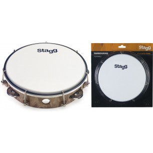 "TAB-108P/WD - Tambourin accordable en plastique 8"" avec 1 rangée de cymbalettes"