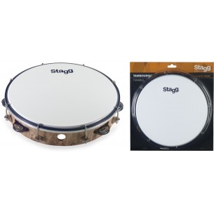 "TAB-110P/WD - Tambourin accordable en plastique 10"" avec 1 rangée de cymbalettes"