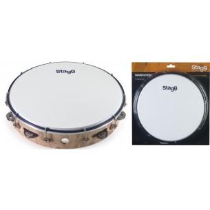 "TAB-112P/WD - Tambourin accordable en plastique 12"" avec 1 rangée de cymbalettes"