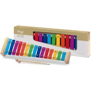META-K15 RB - Métallophone avec 15 lames de différentes couleurs et deux mailloches