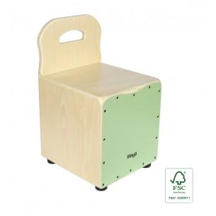 CAJ-KID-GR - Cajón pour enfant avec dossier EasyGo, en tilleul, plaque verte
