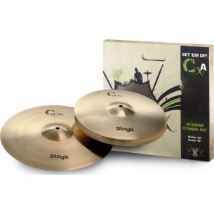 "CXA SET - Start Brass Cym.Set-Hh13""+C16"""