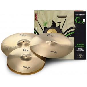 CXG SET - Set de cymbales en laiton pour débutants/étudiants