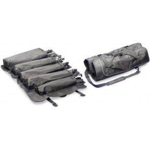 SPSB SET 5 - Housse enroulable professionelle en nylon noir renforcé, avec