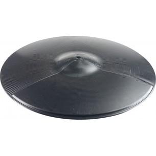 """CPB-16 - Cymbale d'entrainement 16"""" en plastique noir"""