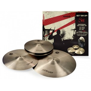 "SH-SET - pack cymbales HH 14"", C 16"", R 20"" + housse 20"""