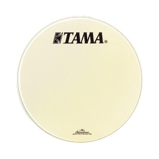 """CT20BMOT - Peau de résonance blanche 20"""" grosse-caisse - Logo Tama Starclassic"""
