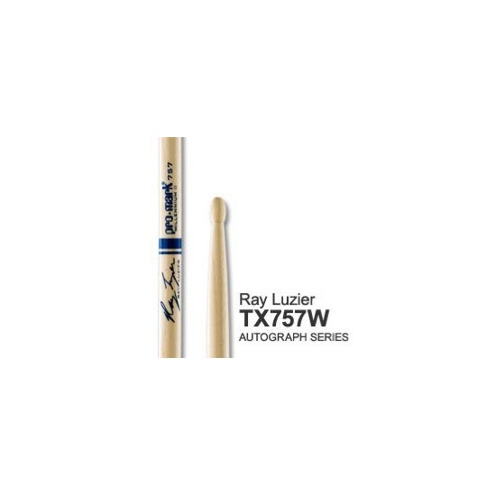 Baguettes American Autograph Hickory 757 - RAY LUZIER