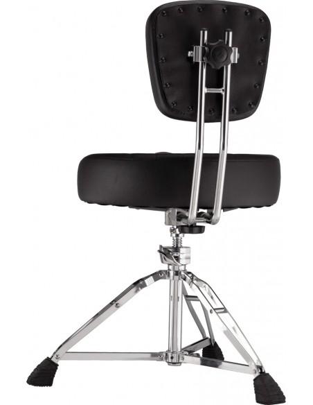 D2500BR - Siège ergonomique selle sur vis centrale avec dossier réglable