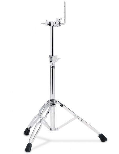 9991 - Stand simple tom, avec clamp intégré, double embase