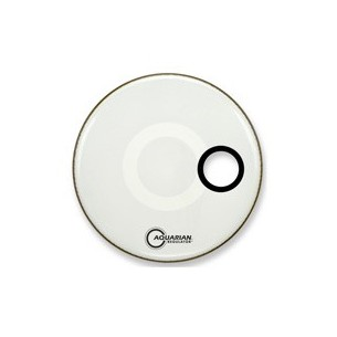 "REGULATOR 18"" Résonance BLANCHE (percée 4,75"") Grosse-caisse"
