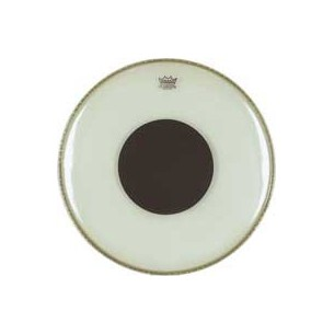 "CONTROLLED SOUND Transparente 20"" Grosse-caisse + renfort noir"