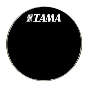 """BK20BMWS - Peau de résonance noire 20"""" grosse-caisse - Logo Tama"""