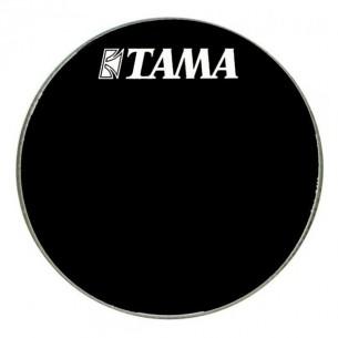 """BK22BMWS - Peau de résonance noire 22"""" grosse-caisse - Logo Tama"""