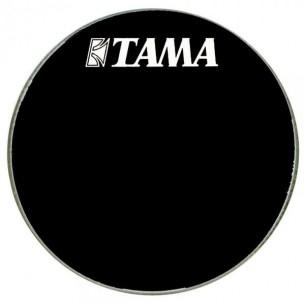 """BK24BMWS - Peau de résonance noire 24"""" grosse-caisse - Logo Tama"""