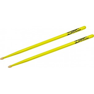 Baguettes Hickory Series 5A Acorn - NEON YELLOW
